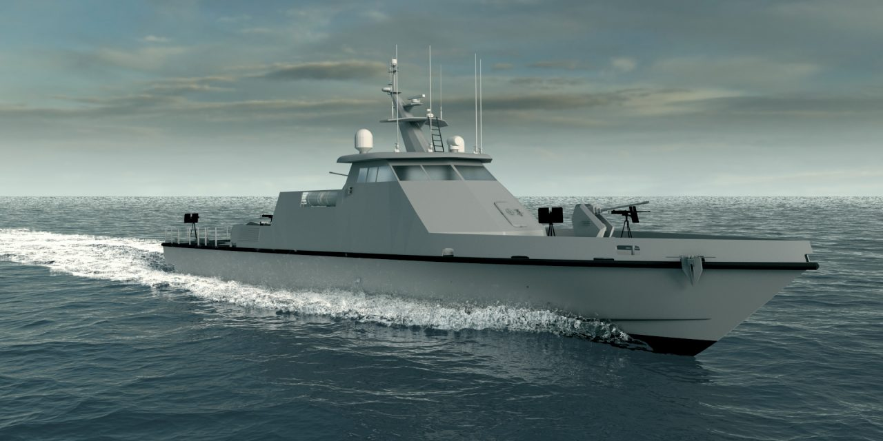 Swiftships' 45 Meter FPB is an all Steel Hull with Aluminum Superstructure, 170LT (Half Load), 190LT (Full Load) with Top Speed of 35 knots and 1500NM range @ 12 knots, with a pedigree of 17 copies build in accordance with American Bureau of Shipbuilding (ABS) and High Speed Craft (HSC).   The Fast Patrol Boat is built to contain and conquer Fast Attack Craft and Fast Inshore Attack Craft threats. It is built using state-of-the-art, high quality components with a 25-year life cycle. The 45 Meter Fast Patrol Boat is a highly survivable and lethal surface vessel.