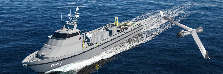 Swiftships 210 Ft. Autonomous Vessel with Multi-Mission Capability